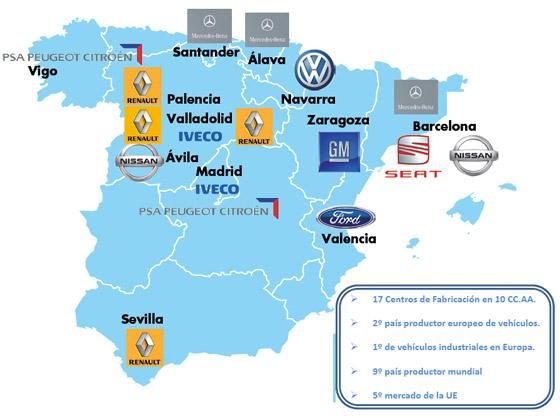 Conoces qu marcas y modelos de coches se fabrican en espa a - Fabricas de cristal en espana ...