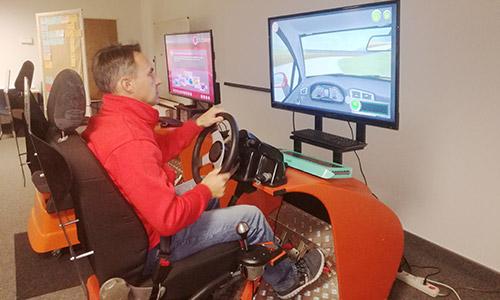Conducción con simulador