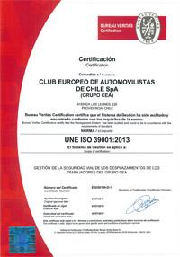 Certificación de la norma ISO 39001 de seguridad vial CEA CHILE