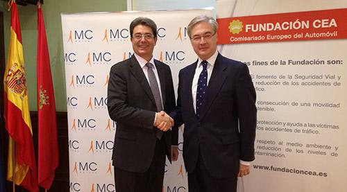 Fundación CEA y MC MUTUAL suman esfuerzos para prevenir los accidentes laborales de tráfico